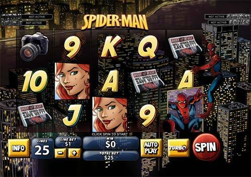Spiderman slot free play demo is not available.