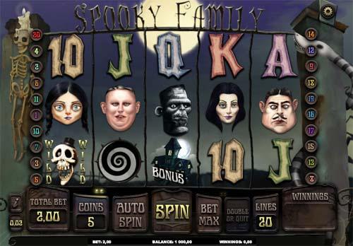 Spooky Family Videoslot Screenshot