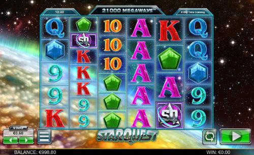 Star Quest Videoslot Screenshot
