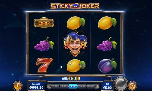 Sticky Joker Videoslot Screenshot