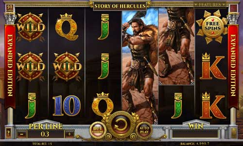 Story of Hercules Expanded Edition Videoslot Screenshot