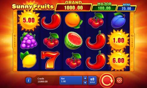 Sunny Fruits Videoslot Screenshot