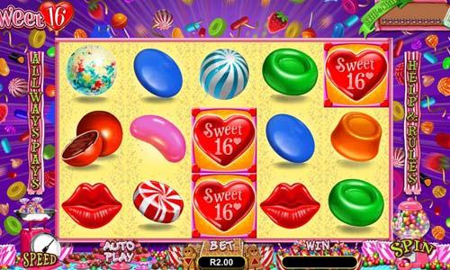 Sweet 16 Videoslot Screenshot