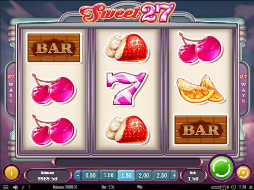 Sweet 27 Videoslot Screenshot