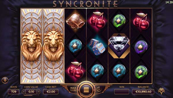 Syncronite Videoslot Screenshot