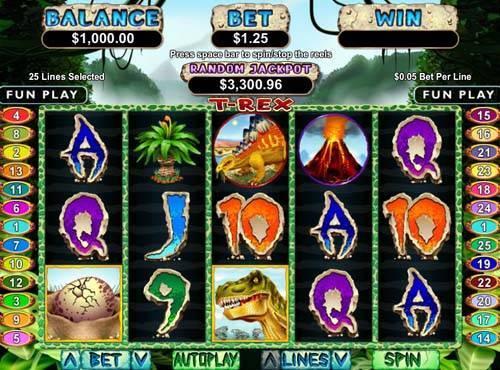 T-Rex slot free play demo
