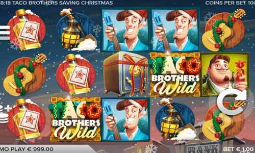 Taco Brothers Saving Christmas Videoslot Screenshot