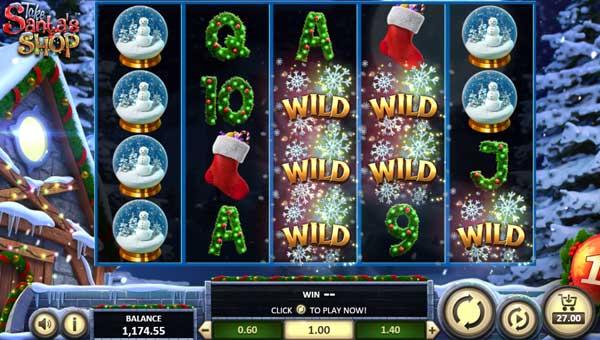 Take Santas Shop Videoslot Screenshot
