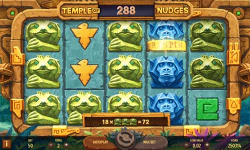 Temple of Nudges Videoslot Screenshot
