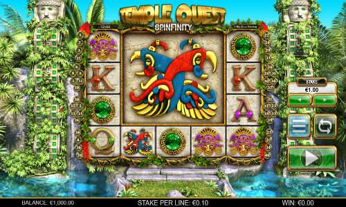 Temple Quest Spinfinity Videoslot Screenshot