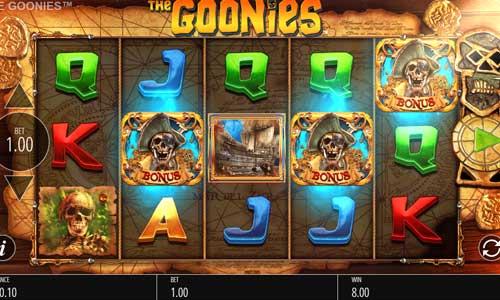 The Goonies Videoslot Screenshot