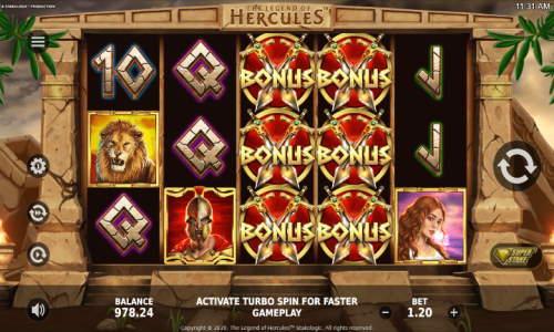 The Legend of Hercules Videoslot Screenshot