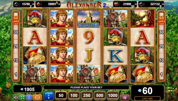 The Story of Alexander II Videoslot Screenshot