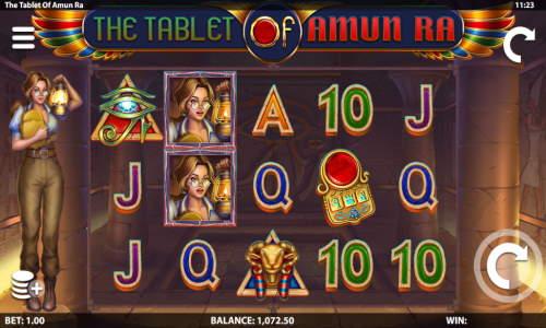 The Tablet of Amun Ra Videoslot Screenshot