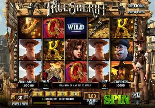 The True Sheriff Videoslot Screenshot