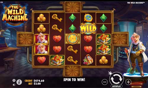 The Wild Machine Videoslot Screenshot