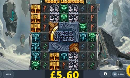 Thors Lightning Videoslot Screenshot