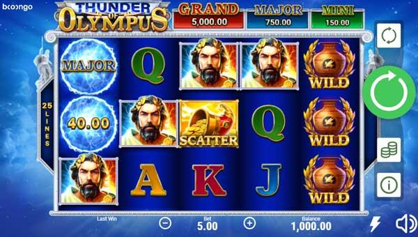 Thunder of Olympus Videoslot Screenshot