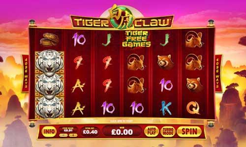 Tiger Claw Videoslot Screenshot
