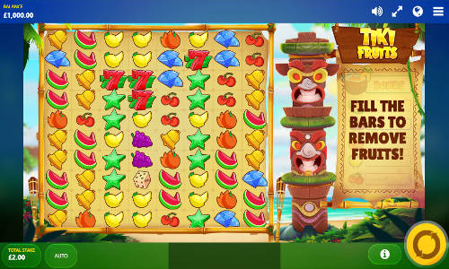 Tiki Fruits Videoslot Screenshot