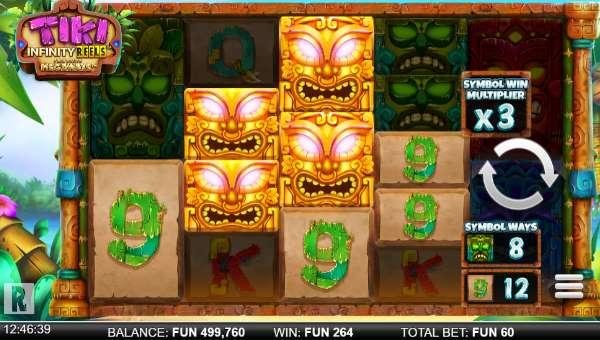 Tiki Infinity Reels Megaways Videoslot Screenshot