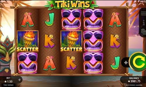 Tiki Wins Videoslot Screenshot