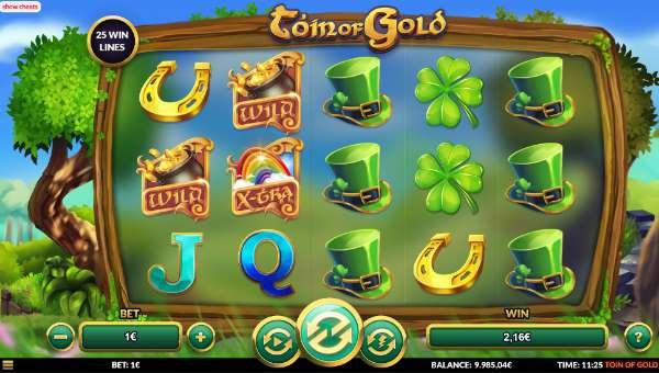 Toin of Gold Videoslot Screenshot