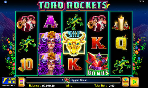 Toro Rockets Videoslot Screenshot