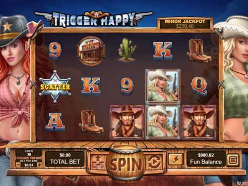 Trigger Happy Videoslot Screenshot