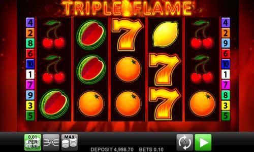 Triple Flame Videoslot Screenshot