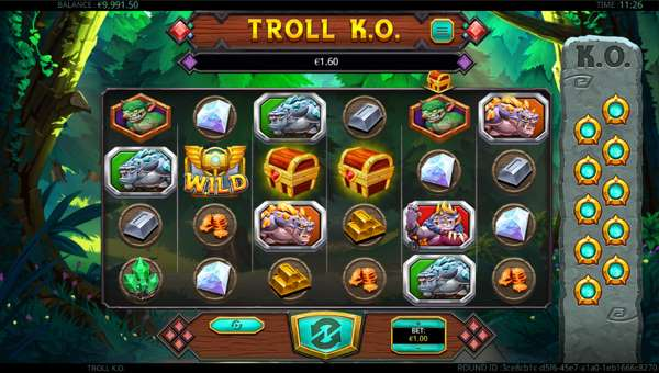Troll KO Videoslot Screenshot