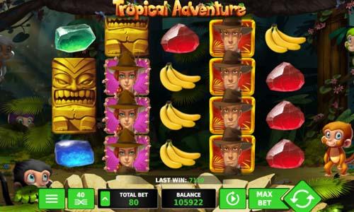 Tropical Adventure Videoslot Screenshot