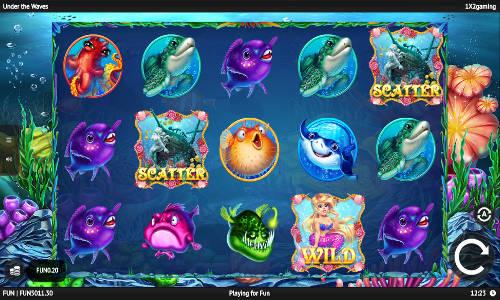 Under The Waves Videoslot Screenshot