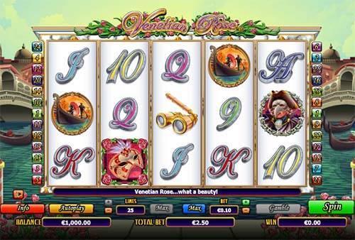 Venetian Rose slot free play demo