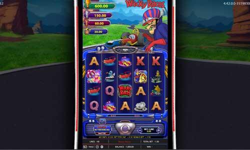 Wacky Races Videoslot Screenshot