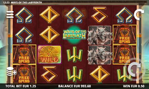 Ways of the Labyrinth Videoslot Screenshot
