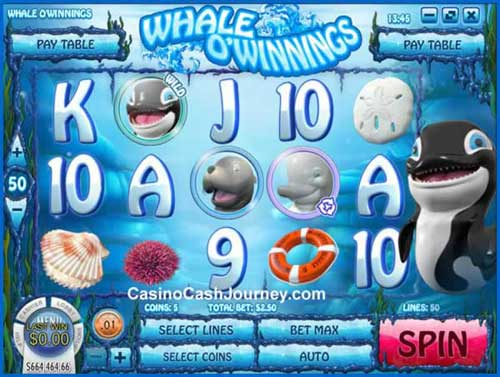Whale O Winnings Videoslot Screenshot