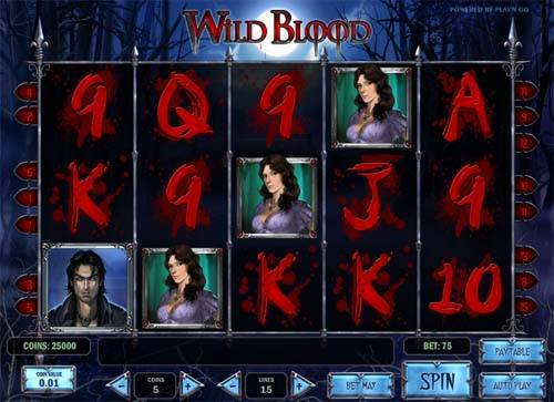 Wild Blood slot free play demo