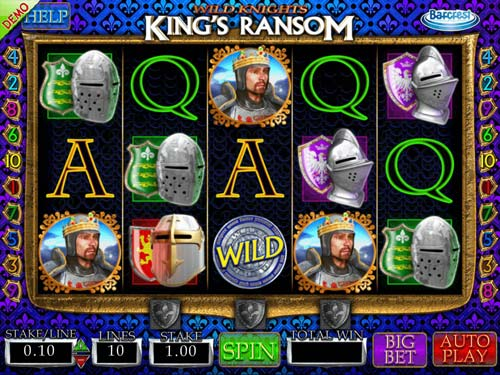 Wild Knights Kings Ransom Videoslot Screenshot