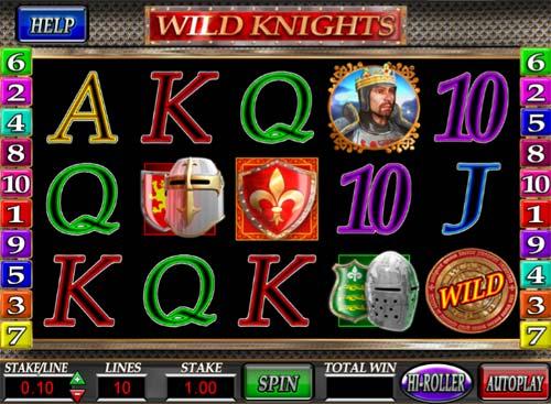Wild Knights Videoslot Screenshot