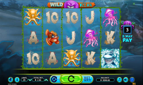 Wild Ocean Videoslot Screenshot