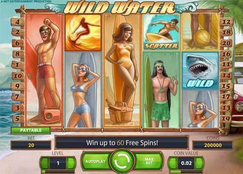 Wild Water Videoslot Screenshot