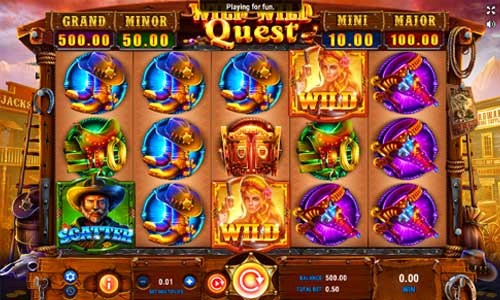 Wild Wild Quest Videoslot Screenshot