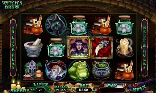 Witchs Brew Videoslot Screenshot