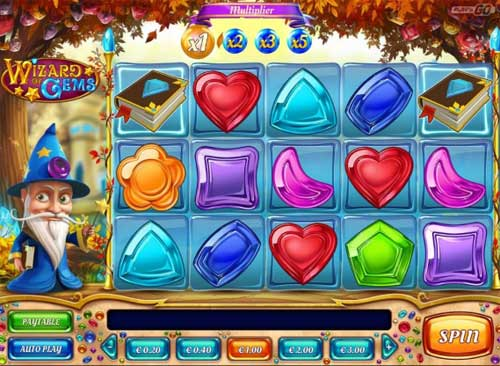 Wizard of Gems Videoslot Screenshot