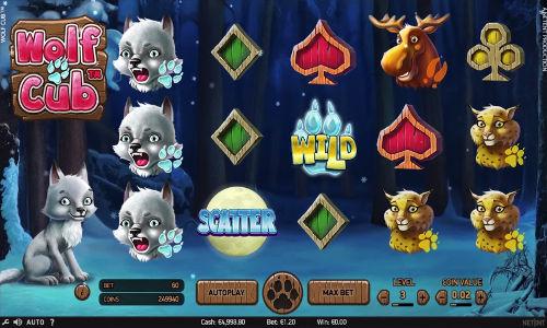 Wolf Cub Videoslot Screenshot