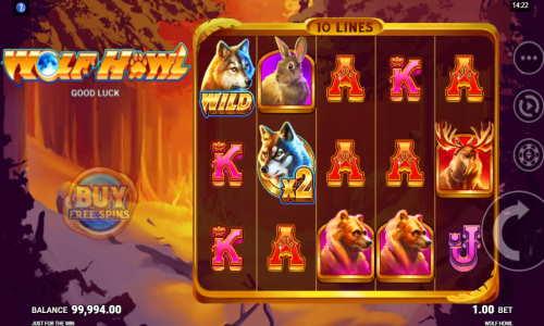 Wolf Howl Videoslot Screenshot