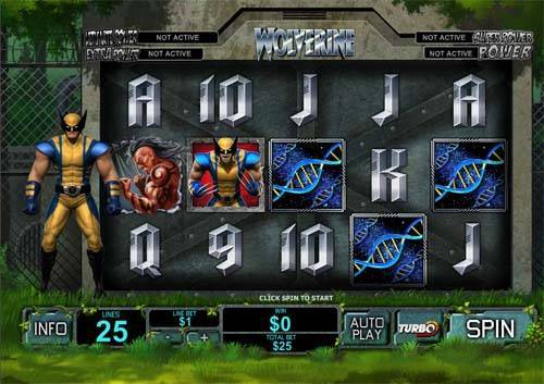 Wolverine slot free play demo is not available.
