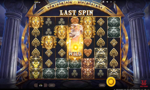 zeus lightning power reels slot overview and summary