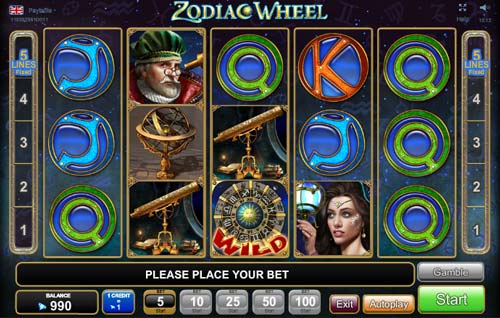 play amazing free video slot Zodiac Wheel
